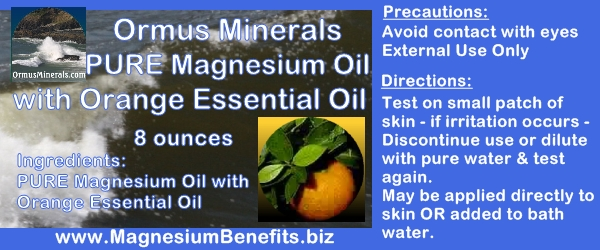 Ormus Minerals PURE Magnesium Oil with Orange Oil